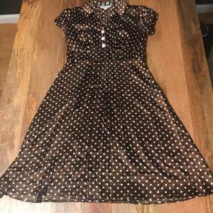 DRESSBARN Poka Dot Dress 🌿